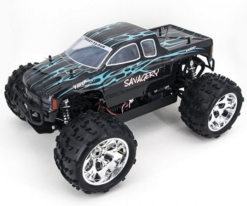 [TOP Li-Po] MONSTER 1:8 HSP SAVAGERY BRUSHLESS BATERIA LIPO 3S EDITION AZUL TRUCK